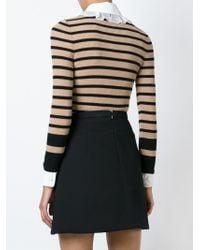 Philosophy Di Lorenzo Serafini Black Striped Ribbed Sweater