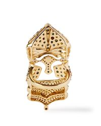 Bochic - Metallic Rainbow Knight Nouveau Diamond Ring - Lyst