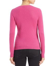Lord & Taylor Pink Cashmere Crewneck Sweater