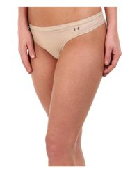 Under Armour | Natural Pure Stretch Sheer Thong | Lyst