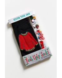 Urban Outfitters - Red Diy Ugly Sweater Sock Kit - Lyst