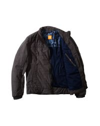BOSS Orange Gray Quilted Jacket 'Odelmo-W' In A Fabric Blend for men