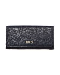 DKNY Blue Tribeca Navy Large Flap Over Purse