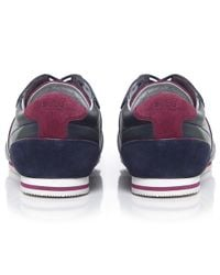 BOSS Green | Blue Victorie Fiction Trainers for Men | Lyst