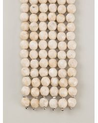 Brunello Cucinelli - White Riverstone Tie Necklace - Lyst