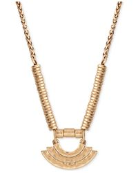 Lucky Brand | Metallic Gold-tone Long Pendant Necklace | Lyst