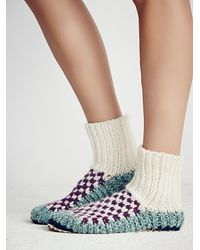 Free People | Purple Ariana Bohling Womens Handknit Ii Alpaca Slipper | Lyst