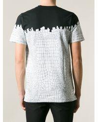Kris Van Assche | Black Crocodile Print Tshirt for Men | Lyst