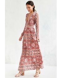For Love & Lemons Red Juliet Maxi Dress