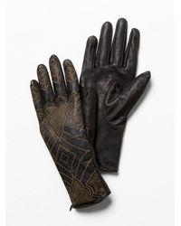 Free People Black Henna Leather Glove