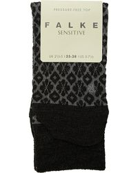 Falke | Black Tile Socks - For Women | Lyst