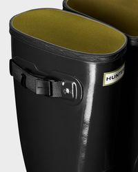 Hunter | Gray Women's Huntress Gloss Rain Boots | Lyst