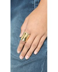 Michael Kors Metallic Wide Statement Ring - Gold