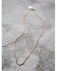 Free People | Pink Phyllis + Rosie Jewelry Womens Mini V Necklace | Lyst
