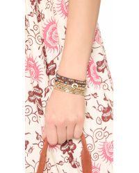 Shashi - Metallic Nugget Stretch Bracelet Set - Lyst