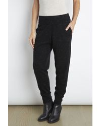 INHABIT | Black Cashmere Jogger | Lyst