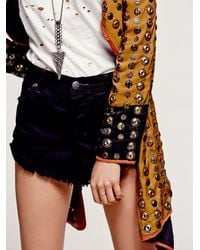 Free People Yellow Crossed Coin Jacket