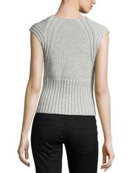 Michael Kors - White Cashmere/wool Shell - Lyst
