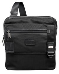 Tumi | Black Alpha Bravo Annapolis Zip-Flap Bag for Men | Lyst