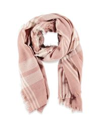 Forever 21 | Pink Frayed Plaid Scarf | Lyst