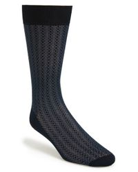 Canali | Black Pattern Socks for Men | Lyst