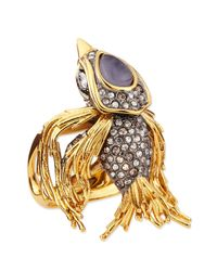 Alexis Bittar | Metallic Starling Bird Ring With Labradorite And Crystals | Lyst