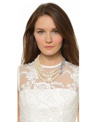 kate spade new york - Natural Pearly Glow Triple Strand Necklace - Cream Multi - Lyst