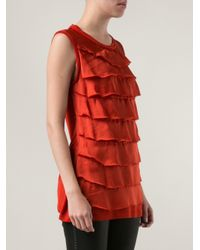 Lanvin - Frill Layered Blouse - Lyst