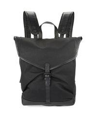 Cole Haan | Black Leather Trimmed Messenger Bag for Men | Lyst