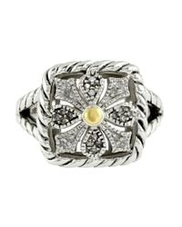 Lord & Taylor | Metallic Balissima Sterling Silver And 18 Kt. Yellow Gold Diamond Ring | Lyst