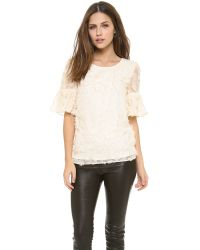 Alice By Temperley White Petal Top Ivory