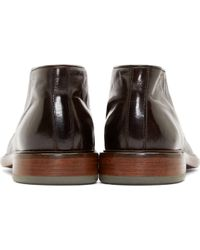 Paul Smith Brown Leather Carver Desert Boots for men