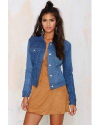 Nasty Gal - Blue After Party Vintage Push It Patchwork Denim Jacket - Lyst