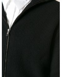 Ann Demeulemeester - Black Ribbed Knit Cardigan for Men - Lyst