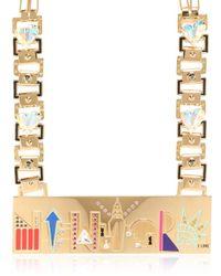 Maria Francesca Pepe Metallic City Skyline Necklace