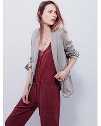Free People | Metallic Womens Slouchy Blazer | Lyst