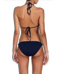 MILLY - Blue Cabana Italian Solid Positano Bikini Bottom - Lyst