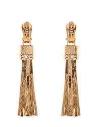 Lanvin | Metallic Art Deco Tassel Earrings | Lyst