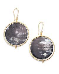 Nest - Metallic Horn Disc Statement Drop Earrings - Lyst