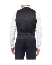 Thom Sweeney Blue Navy Berkeley Three-Piece Wool Tuxedo for men
