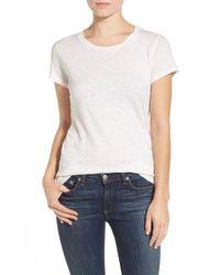 Splendid - White X Damsel: The Cotton Collection Slub Knit Crewneck Tee - Lyst