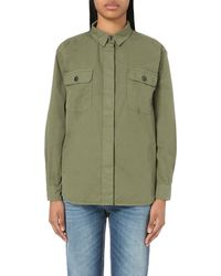 Closed | Green Oversized Cotton Shirt | Lyst