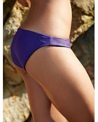 Free People - Purple Zuma Basic Bottom Strappy Racer Back Swim Top - Lyst