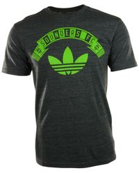 Adidas Black Mens Seattle Sounders Fc Distressed Graphic Tshirt for men