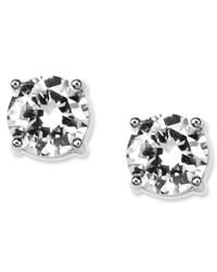 Givenchy | Metallic Round Crystal Stud | Lyst