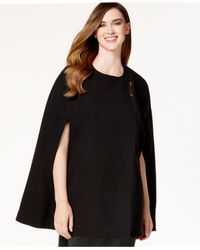 Calvin Klein | Black Crossover Cape Poncho | Lyst