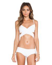 Rachel Pally White Roatan Bikini Top