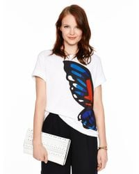 kate spade new york | White Butterfly Tee | Lyst
