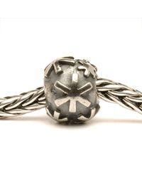 Trollbeads Metallic Snow Silver Charm Bead
