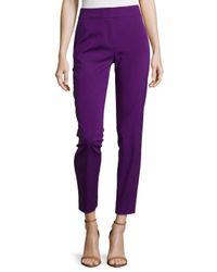 ESCADA - Purple Mid-rise Tapered Crop Pants - Lyst